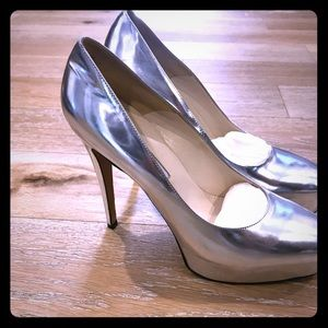 Brian Atwood silver pumps